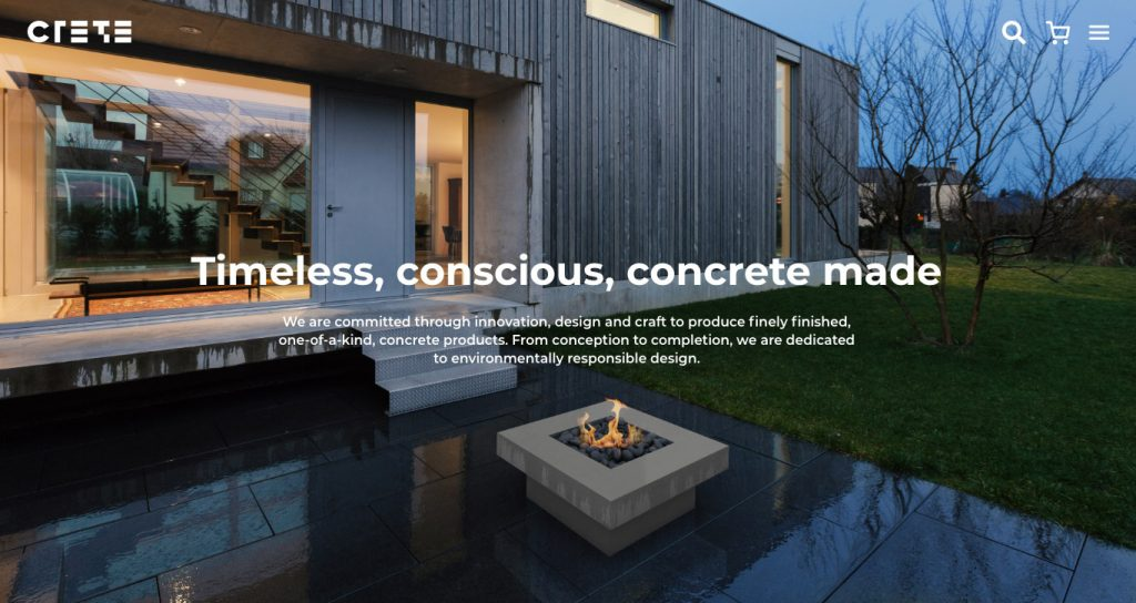 Website for Concrete Products