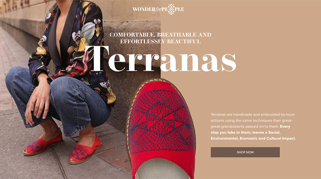 Landing Page for Artisanal Shoes